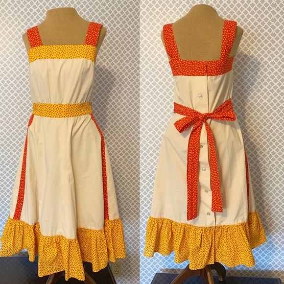 029ee38db5c Vintage Dresses | Offers Welcome Pretty Bib Style Dress | Poshmark